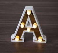 Festival Christmas Decoration Mini Wooden LED Sign Letters Lights for Wedding Decoration Crafts