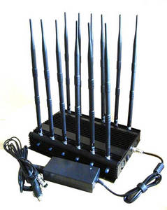 Wholesale gsm jammers: 12-band Jammer GSM DCS Rebolabile 3G 4G WIFI GPS and RF Bugs From 130 To 500 Mhz