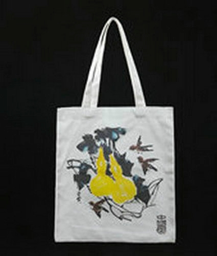 Popular Canvas Bag with Chinese Painting