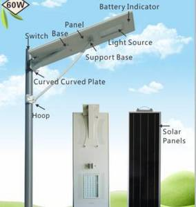 Wholesale Street Lights: 60W High Power All in One Integrated Solar Street Light