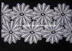 Wholesale cotton lace: Cotton Chemical Floral Lace Trim Fabric Chrysanthemum Shape For Wedding Accessories