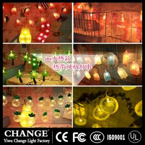 Wholesale decorative string lights: Flamingo Pineapple Cactus Unicorn LED Fairy String Lights for Christmas Party Wedding Decor Gifts