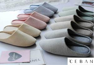 Wholesale Slippers: Unisex Indoor Slippers Cotton Material Soft Outsole Non-slip Hotel Slippers