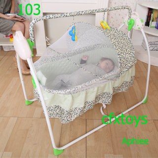 New Rc Baby Rocker Bed Baby Furniture Musical Baby Bassinet