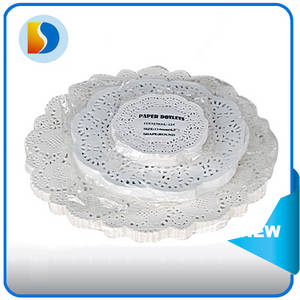 Wholesale round placemat: Factory Price / High Quality Hotel Supplies Pink Round Paper Doilies Placemats 13.5