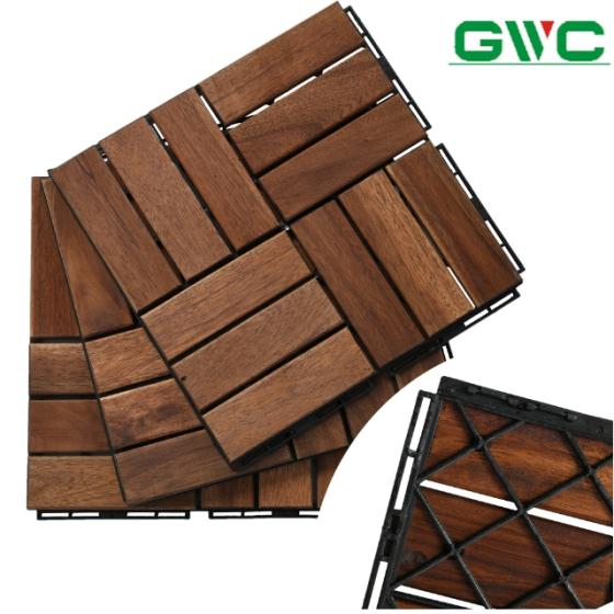 Sell 12 Slat Wood Deck Tiles for Outdoor Space