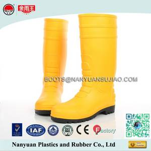 Wholesale rain boots: 828 PVC Mining or Construction Safety Rain Boots