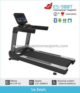 Wholesale commercial treadmill: Super Strong Building Touch Screen Commercial Treadmill 4.0HP AC Motor  Electric Treadmill