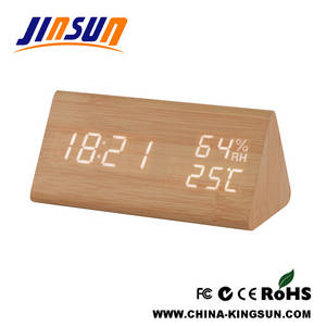 Wholesale led temperature humidity display: Humidity And Temperature Function Clock With Led Display