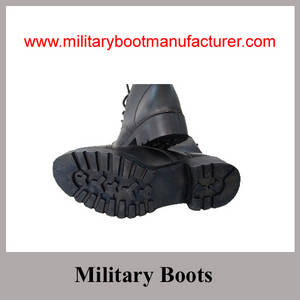 Wholesale combat boot supplier: Wholesale China Made Black Good Leather STOCK Military Combat Boots