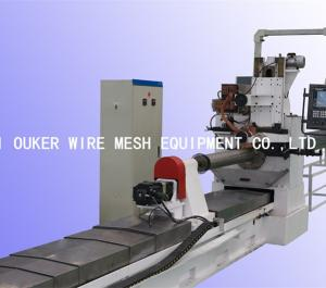 Wholesale pipe welding machine: V30 Ouker Automatic Water Well Stainless Steel Oil Pipe Wedge Wire Screen Welding Machine