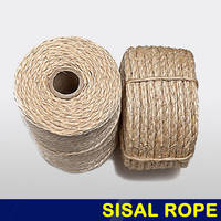 The Most Popular Nature Color Twisted 3-Strand Sisal Rope for Sale