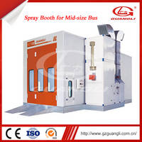 High Quality Automatically Air Controlled Automotive Paint Spray Booth for Mid-size Bus
