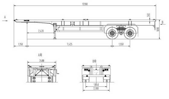 Sell Flat bed semi-trailer with bogie suspension