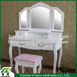 Wholesale Dressers: French Dresser/Bedroom Furniture White Dresser/Wooden Dresser with Chair