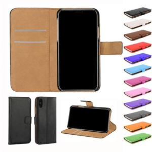Wholesale card wallet: Plain PU Wallet Leather Case Cover for Iphone X with Credit Cards Slots Holder