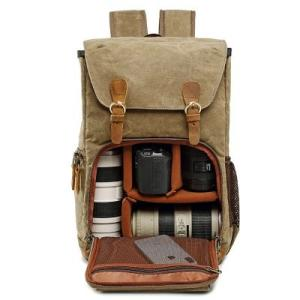 Wholesale camera bag: Wholesaler Large Camera Backpack Canvas Camera Bag with Camera Bag Insert