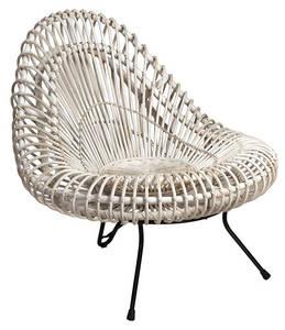 Wholesale Garden & Patio Sets: Pearl White Handwoven Rattan Wicker Chair Outdoor Patio Garden Deck Backyard