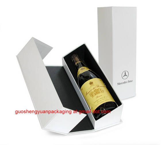 Sell white handmade  wine bottle box