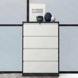 Wholesale metal lateral filing cabinet: Clorina Furniture Office Storage Cabinet Metal 4 Drawer Lateral Filing Cabinet