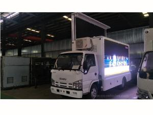 Wholesale scroll pattern: Isuzu P3 Screen Outdoor LED Mobile Billboard Advertising Truck