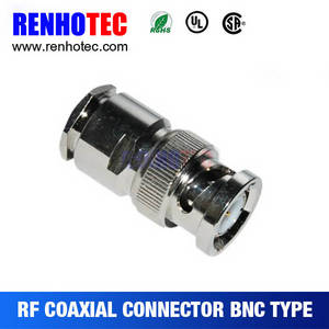 Wholesale china electronics: Made in China BNC Plug Coaxial Connectors RF Magnetic Electronic Connectors for Cable RG58/59/6U