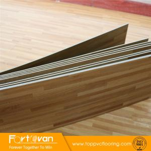 Wholesale wood grain pvc sheet: Wood Grain Vinyl Plank Floor DIY Dry Back PVC Floor