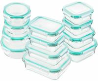HOT Glass Food Storage Containers with Lids, Glass Meal Prep Containers