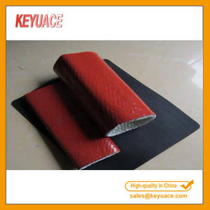 Wholesale Fire Hose: KY Heat Resistant Sleeve Silicone Coated Fiberglass Fire Sleeve/ Fire Resistance /Fireproof