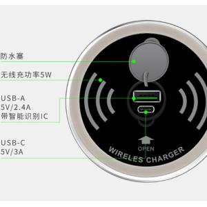Wholesale 5w wireless charger: Furniture Desk Wireless Charger
