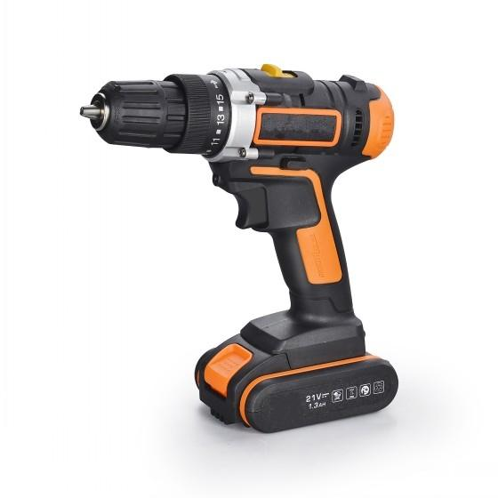 Lithium Battery Electric Drill China 21V Cordless Drill with 2.0AH Li-ion Battery Industrial Battery