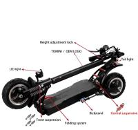 Dual Motor 3200W 52V 10 Inch Fat Tire Off Road Electric Scooter for Adults E Scooter 8
