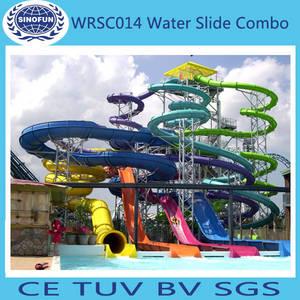 Wholesale big slide: [Sinofun Rides] Big Fiberglass Water Slide for Sale