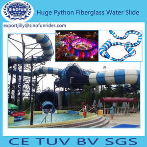 Wholesale fiberglass slide: Hot Sale Python Fiberglass Water Slide for Sale