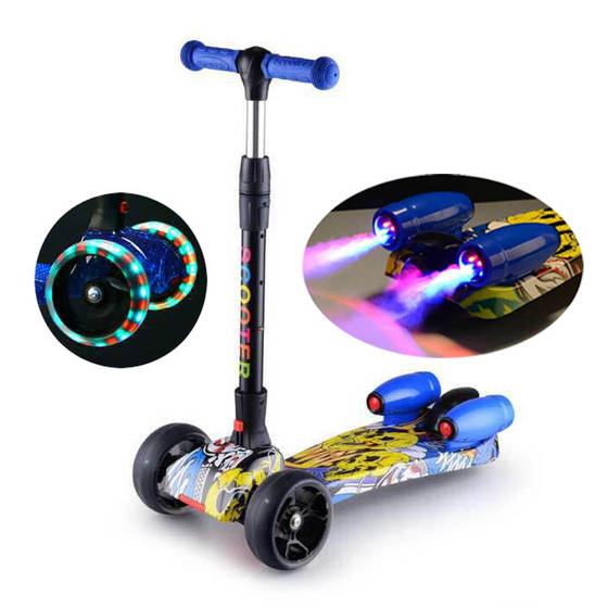 Sell kids electric scooter with flashing wheels