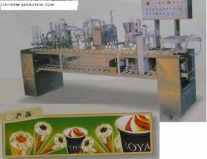 Wholesale ice cream machine: Ice-cream Filling Packing  Machine  Frozing Tunnel  Production Line Plant