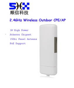 Wholesale adjustable multipoint: 2.4GHz 300Mbps 1000MW Outdoor Wireless Access Point/Ap/CPE, Atheros AR9341 Chipset