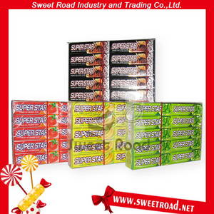 Wholesale Other Candy: Super Star Fruity Strawberry/Banana Flavour Candy Chewing Gum