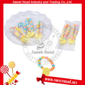 Wholesale candy bracelet: Girls'gift  Colourful Heart and Bracelet Shaped Pressed Candy