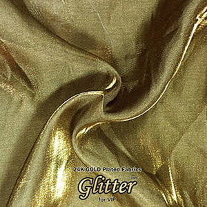 Wholesale jacquard parts: 24K Gold  Plated Fabric with Nanocoating - Exotic G-EX01
