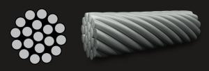 Wholesale steel wire: High Quality Galvanized Fibre Core Steel Wire Rope