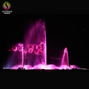 Wholesale led outdoor lighting: Large Outdoor Customized Water Dancing Musical Fountain with LED Light Holographic Laser Projection