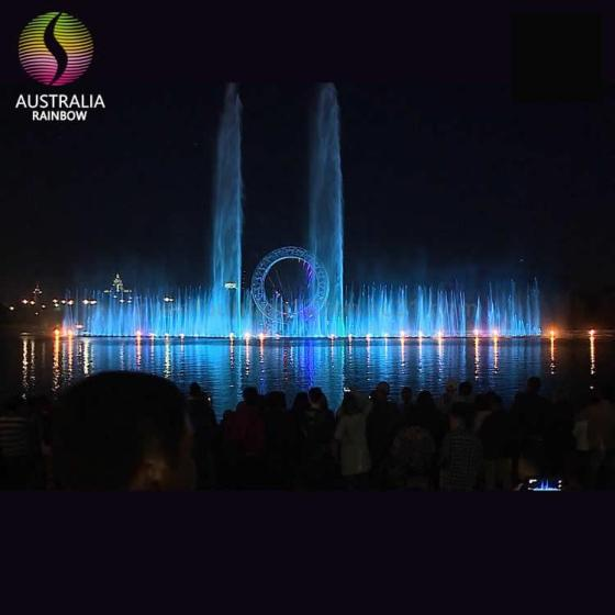 Kazakhstan Big O Show Water Dancing Music Fountain Outdoor with DMX LED Lights and Holographic Laser