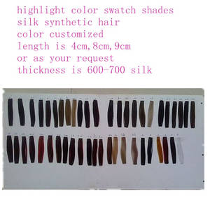 Wholesale hair swatches: Customized Hair Color Swatch
