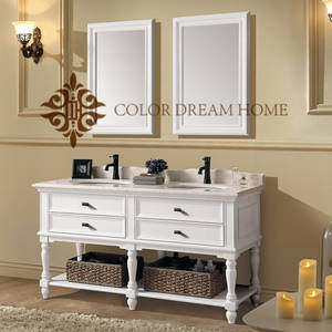 Wholesale furniture: 2017 Homedee Modern Wholesale White Bathroom Cabinets Bathroom Furniture