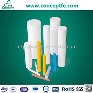 Wholesale Plastic Rods: 100% Virgin Top Quality Acid Resistance PTFE Molded Rod Teflon Round Bar