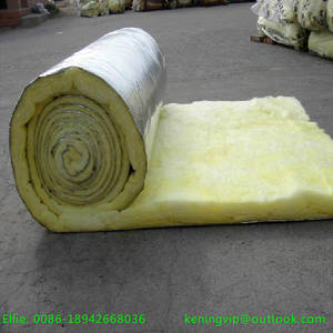 Wholesale glass wool blanket insulation: Glass Wool Roll with One Side Aluminum Foil for Oven Insulation