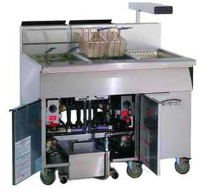 Wholesale steel cabinet: Commercial Gas Floor Fryer