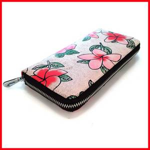Wholesale leather credit card wallet: Fashion Floral Design Ladies Wallets New Long Styles Wallet Bags Popular Portable Change Cash Purses