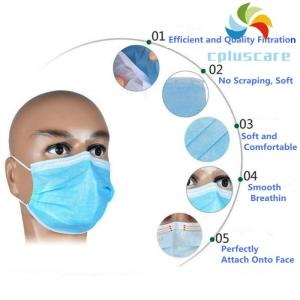 Wholesale non-woven mask: 3-PLY Non-woven Fabric Disposable Surgical Masks
